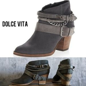 Dolce Vita 7.5 Gray Chained Bootie